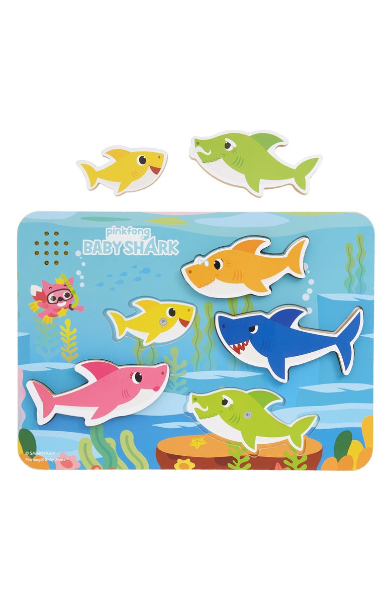NOVELTY POSTER Pinkfong 5-Piece Baby Shark Wooden Sound Puzzle, Main, color, 960