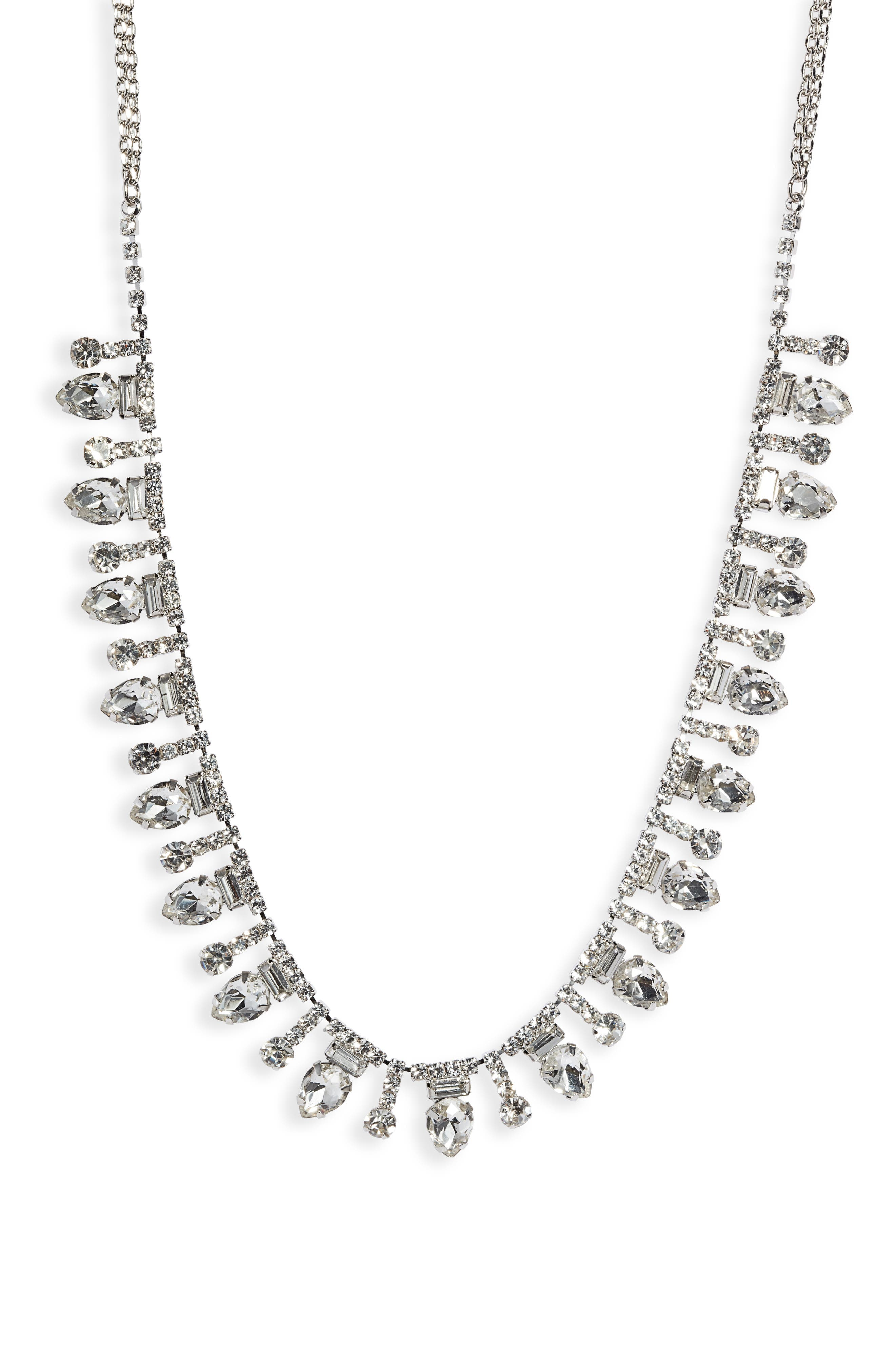 Mixed Crystal Frontal Necklace