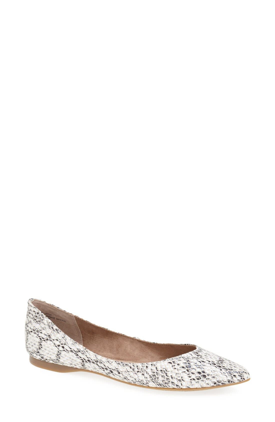 ,                             'Moveover' Pointy Toe Leather Flat,                             Main thumbnail 2, color,                             005