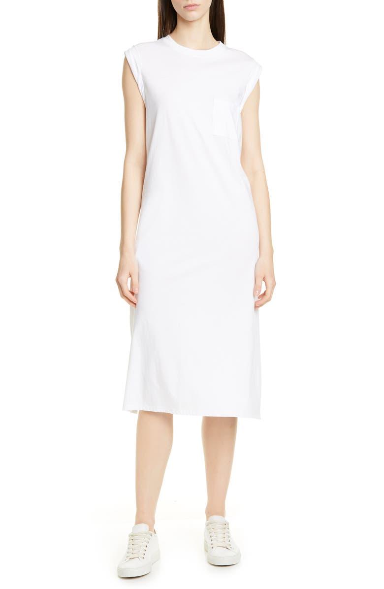 ATM ANTHONY THOMAS MELILLO High Torsion Cotton Dress, Main, color, 100