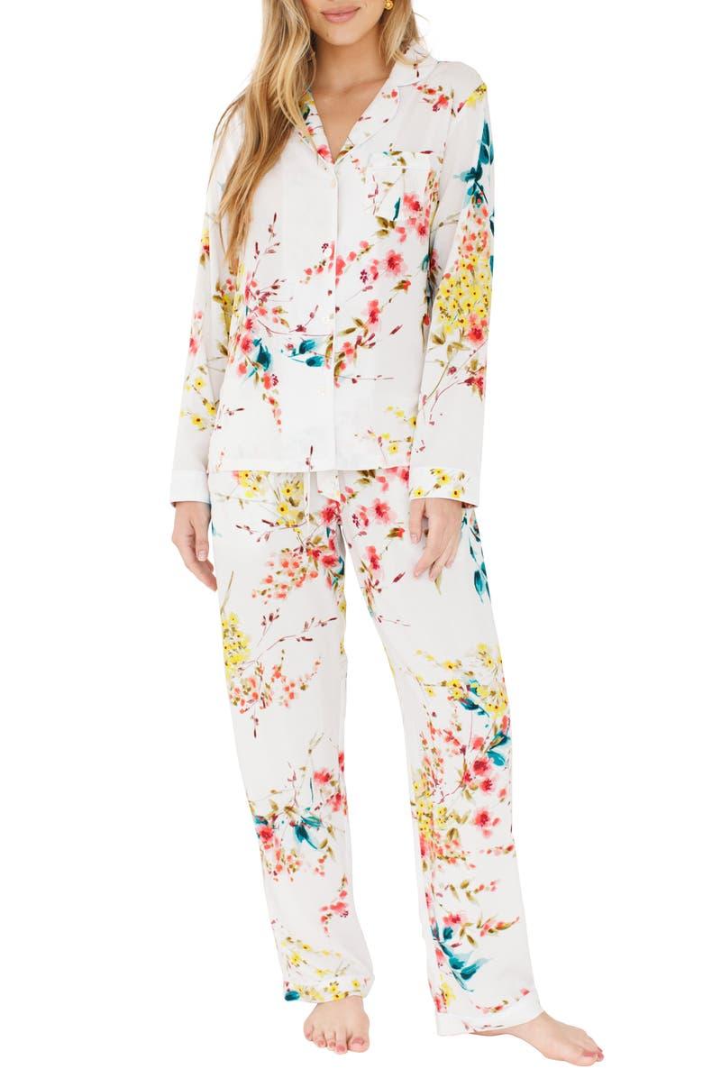 PLUM PRETTY SUGAR Floral Pajamas, Main, color, LIFE IN PHOTOGRAPHS