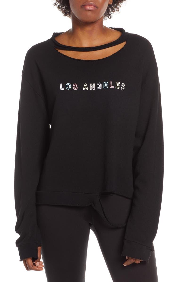 GOOD HYOUMAN LA Distressed Pullover, Main, color, 001