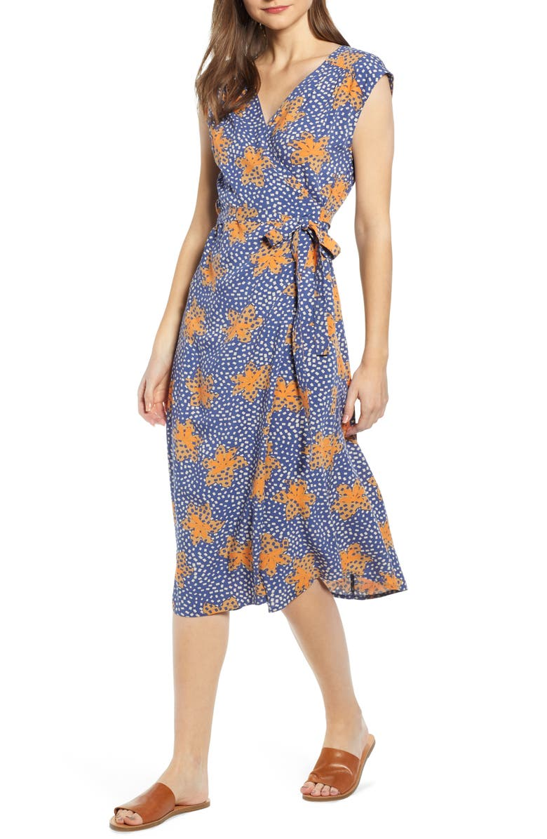 THE ODELLS Robles Print Wrap Dress, Main, color, 425