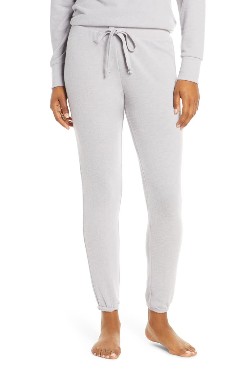 SOCIALITE Brushed Fleece Jogger Pants, Main, color, GREY SCONCE 16-3850-TCX