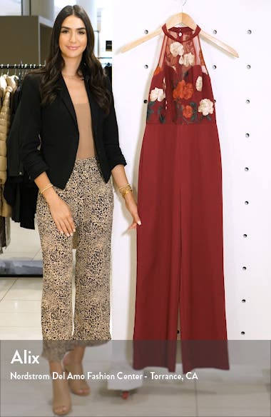Jannie Embroidered Wide Leg Jumpsuit, sales video thumbnail