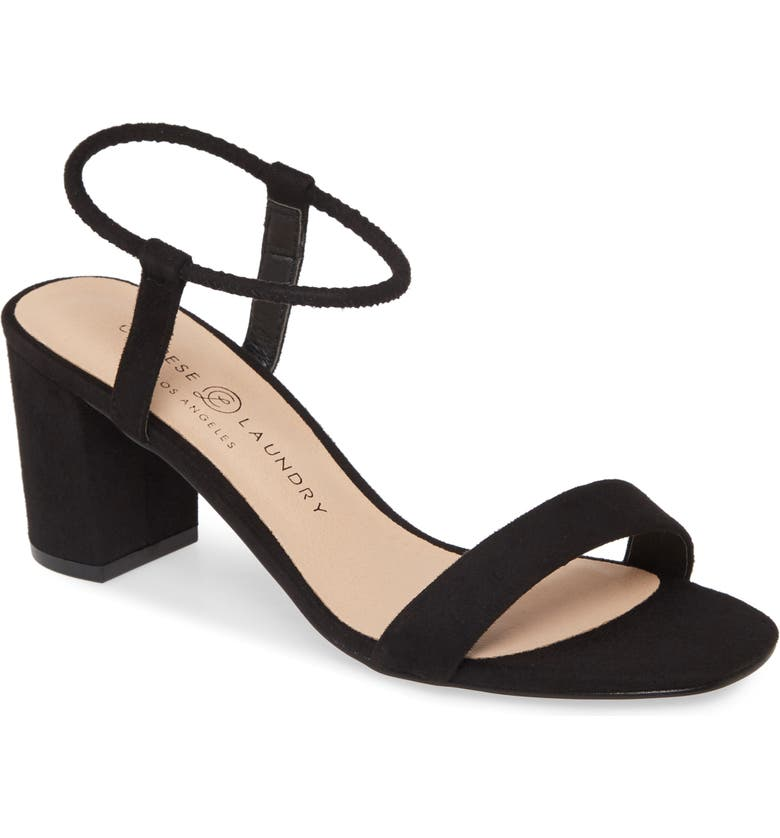 CHINESE LAUNDRY Yummy Sandal, Main, color, BLACK SUEDE