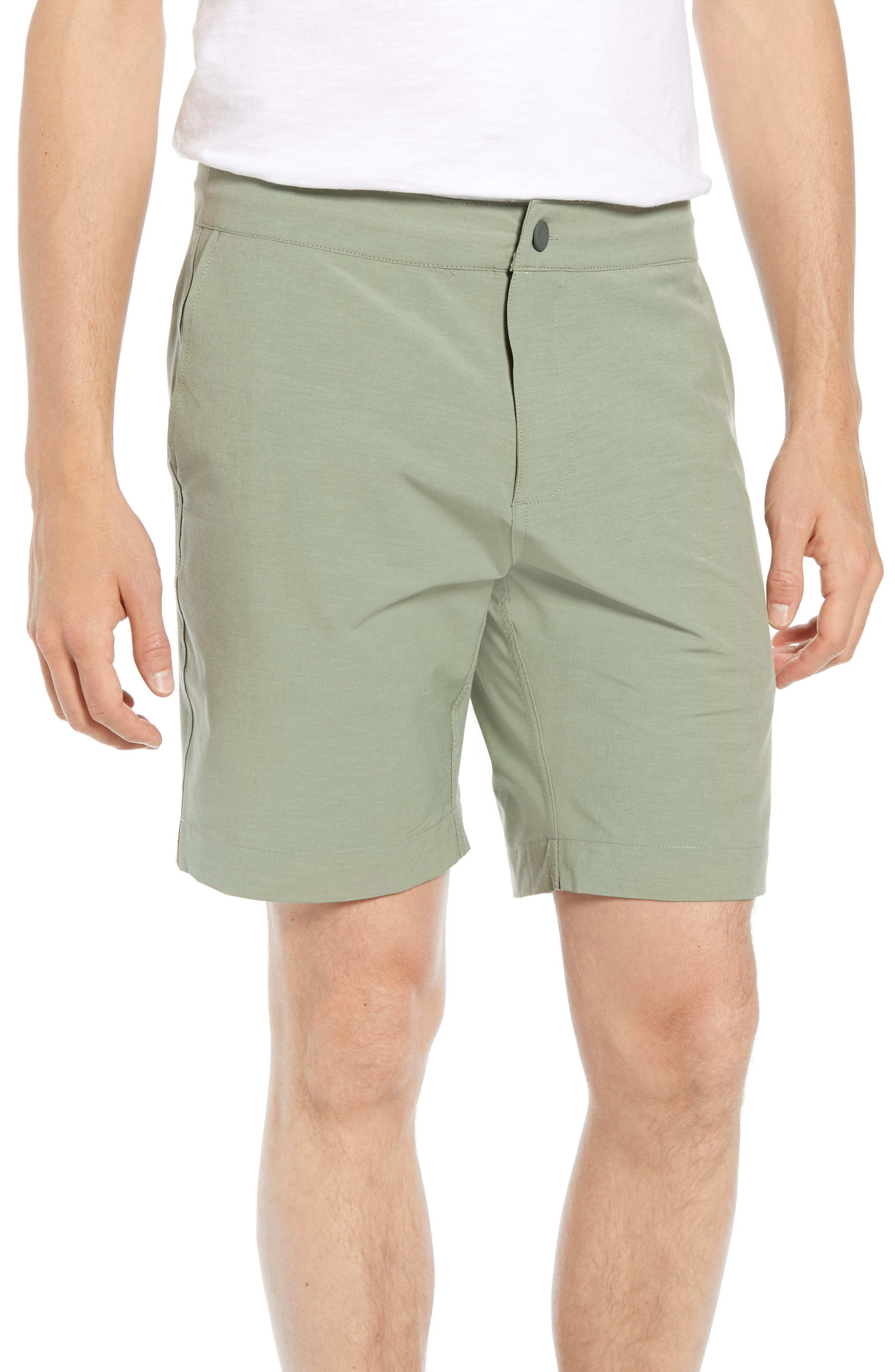 Faherty All Day Flat Front Shorts, Green