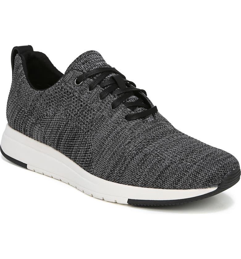 VINCE Palo Knit Sneaker, Main, color, MARL GREY/ BLACK