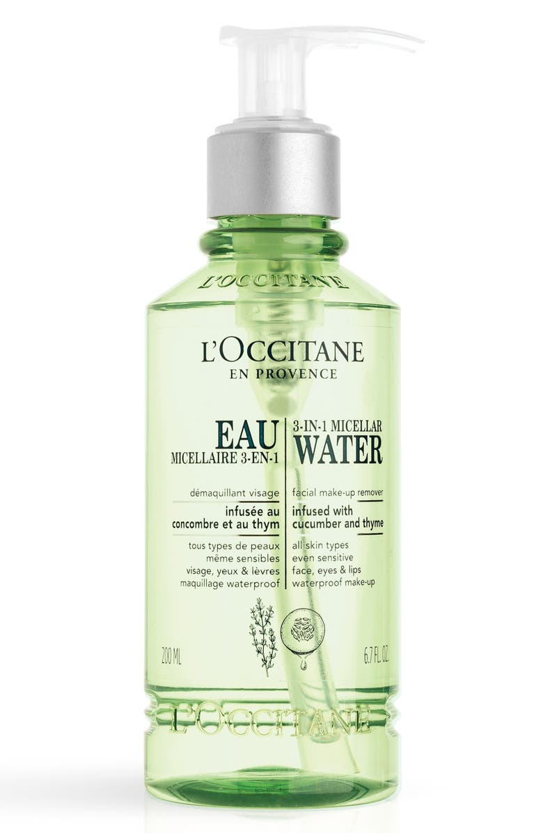 L'OCCITANE 3-in-1 Micellar Water, Main, color, NO COLOR