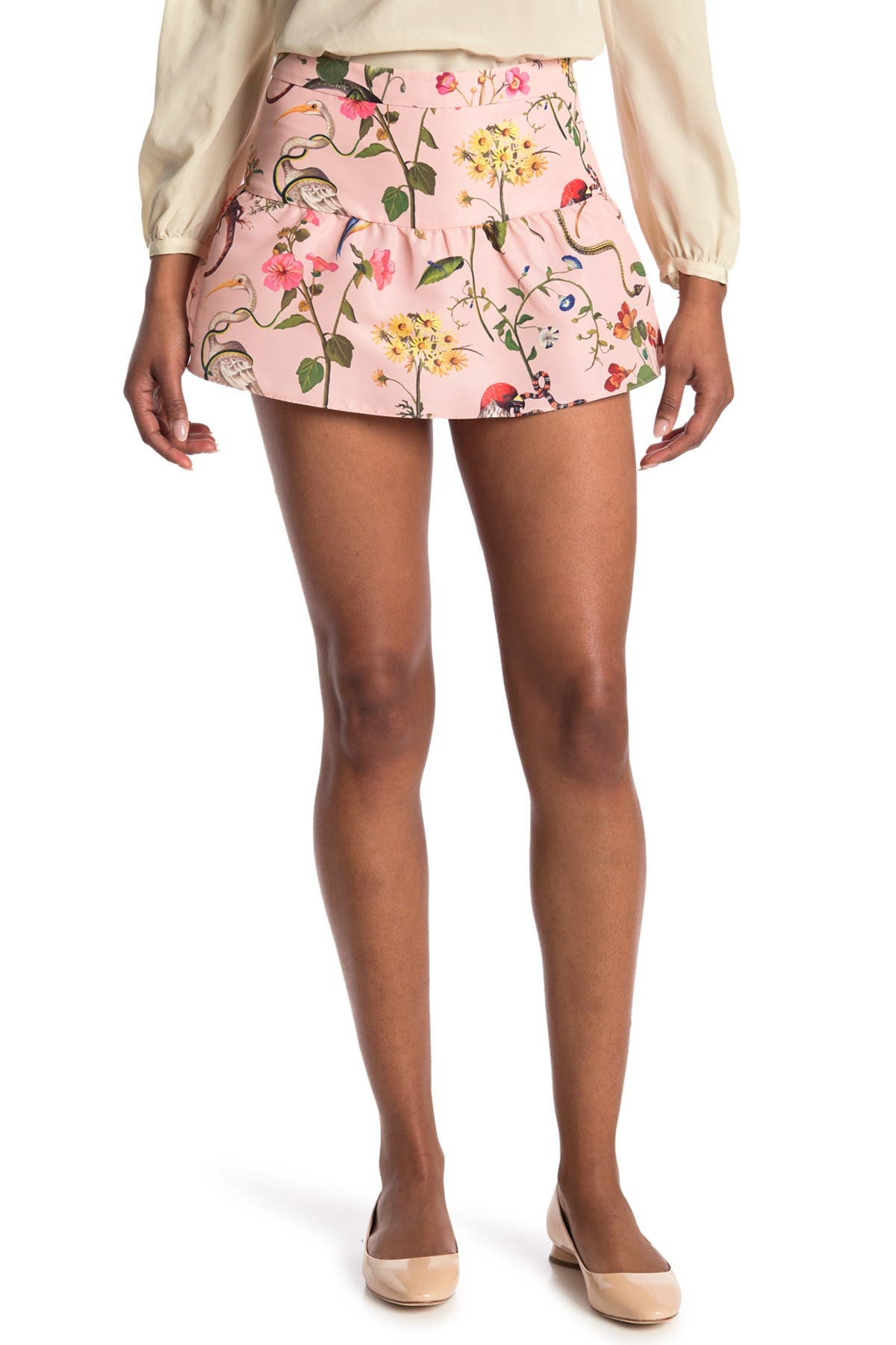 Image of RED Valentino Ruffle Floral Skort