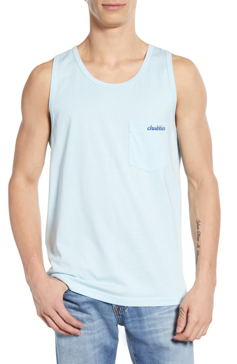 CHUBBIES The Allegiance Pocket Tank, Main, color, LIGHT BLUE