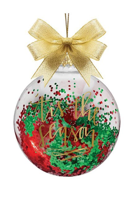 """Image of SLANT COLLECTIONS """"'Tis The Season"""" Novelty Glass Ornament"""