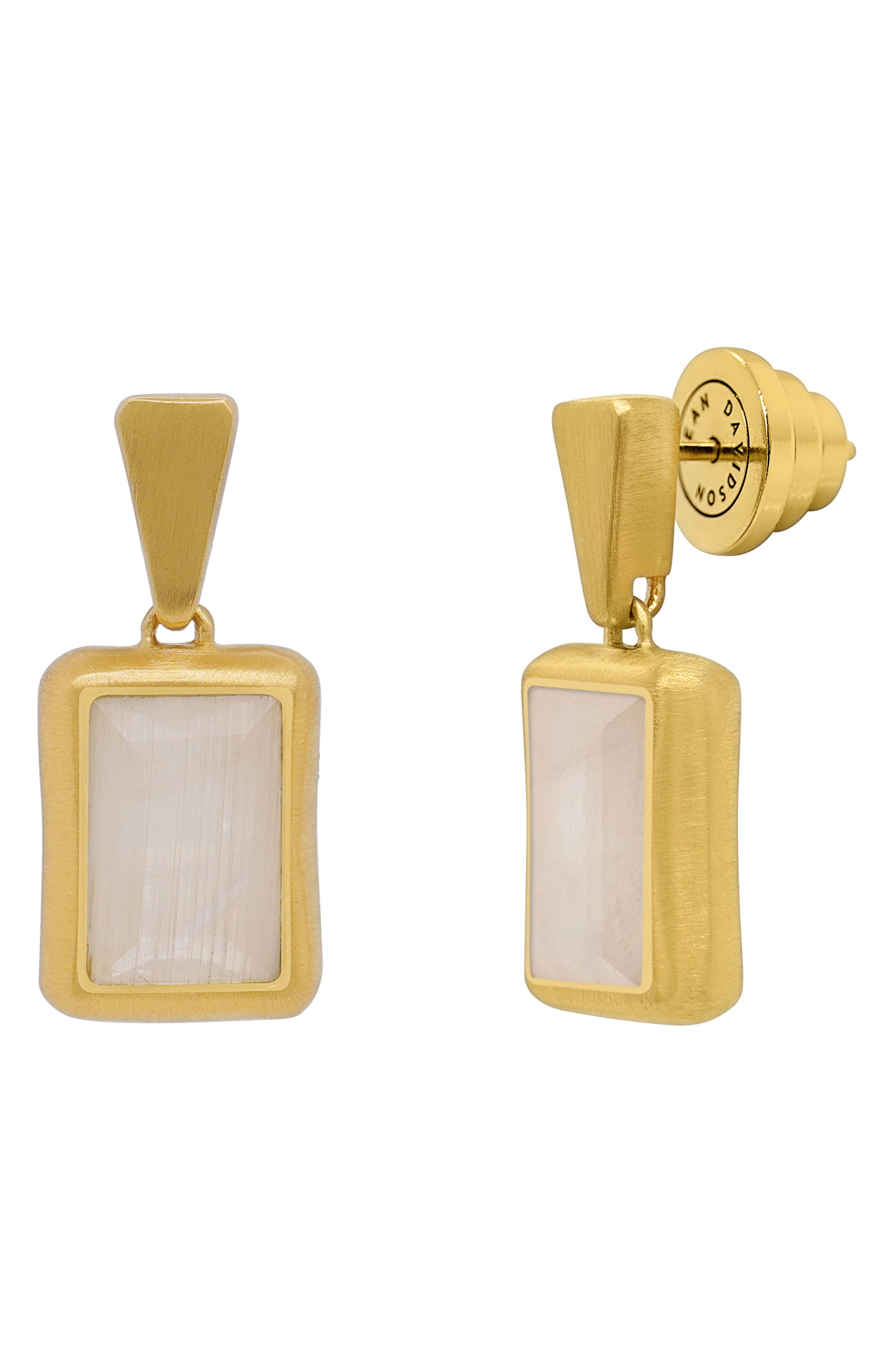 Baguette Stone Drop Earrings