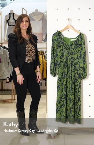 Art Snob Long Sleeve Print Dress, sales video thumbnail