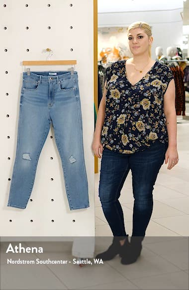 Good Curve High Waist Ripped Crop Skinny Jeans, sales video thumbnail