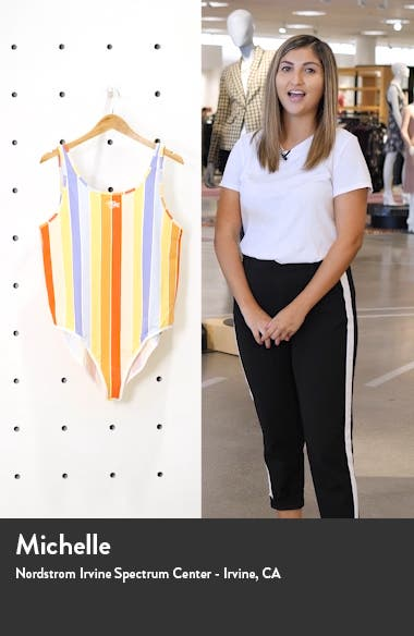 Sportswear Retro Femme Print Bodysuit, sales video thumbnail