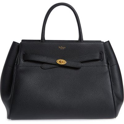 Mulberry Belted Bayswater Grained Leather Satchel - Black