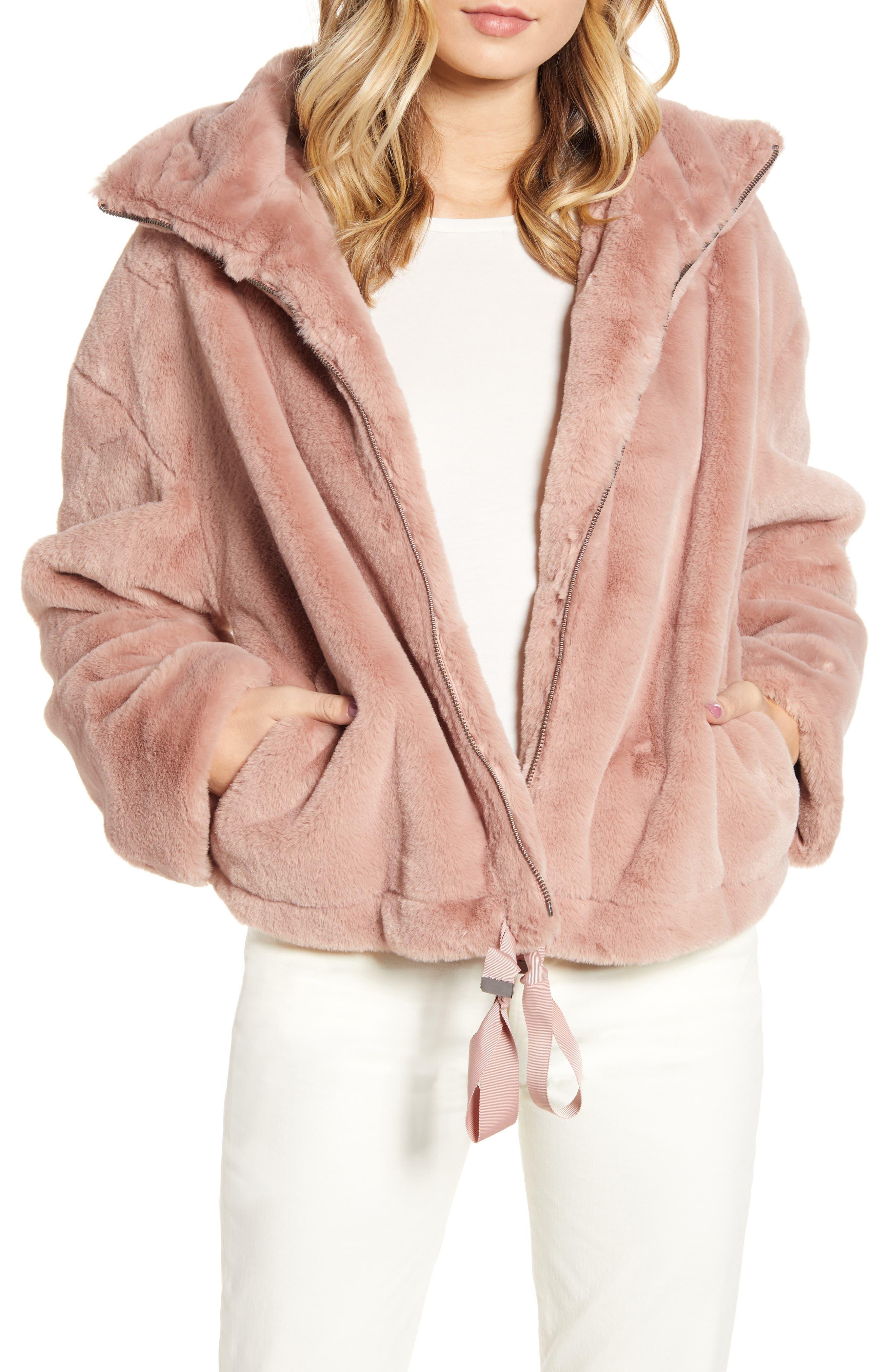 Rebecca Minkoff Faux Fur Bomber Jacket
