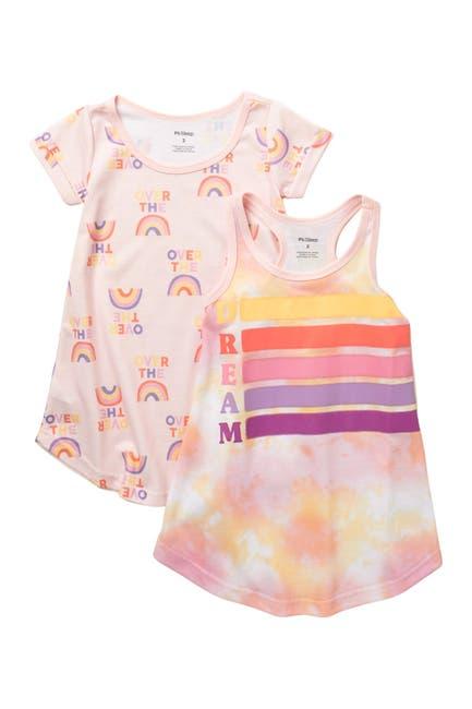 Image of Petit Lem Rainbow Nightgown - Set of 2