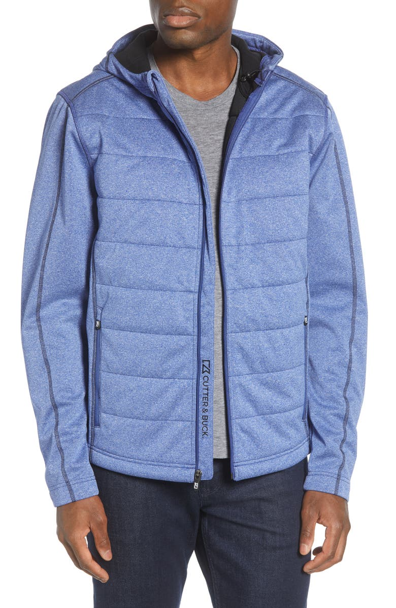 CUTTER & BUCK Altitude WeatherTec Hooded Jacket, Main, color, TOUR BLUE
