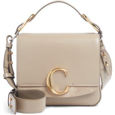 Chloe Small C Convertible Leather Bag - Grey