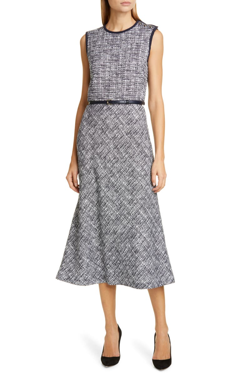 MAX MARA Spadino Belted Midi Dress, Main, color, ULTRAMARINE