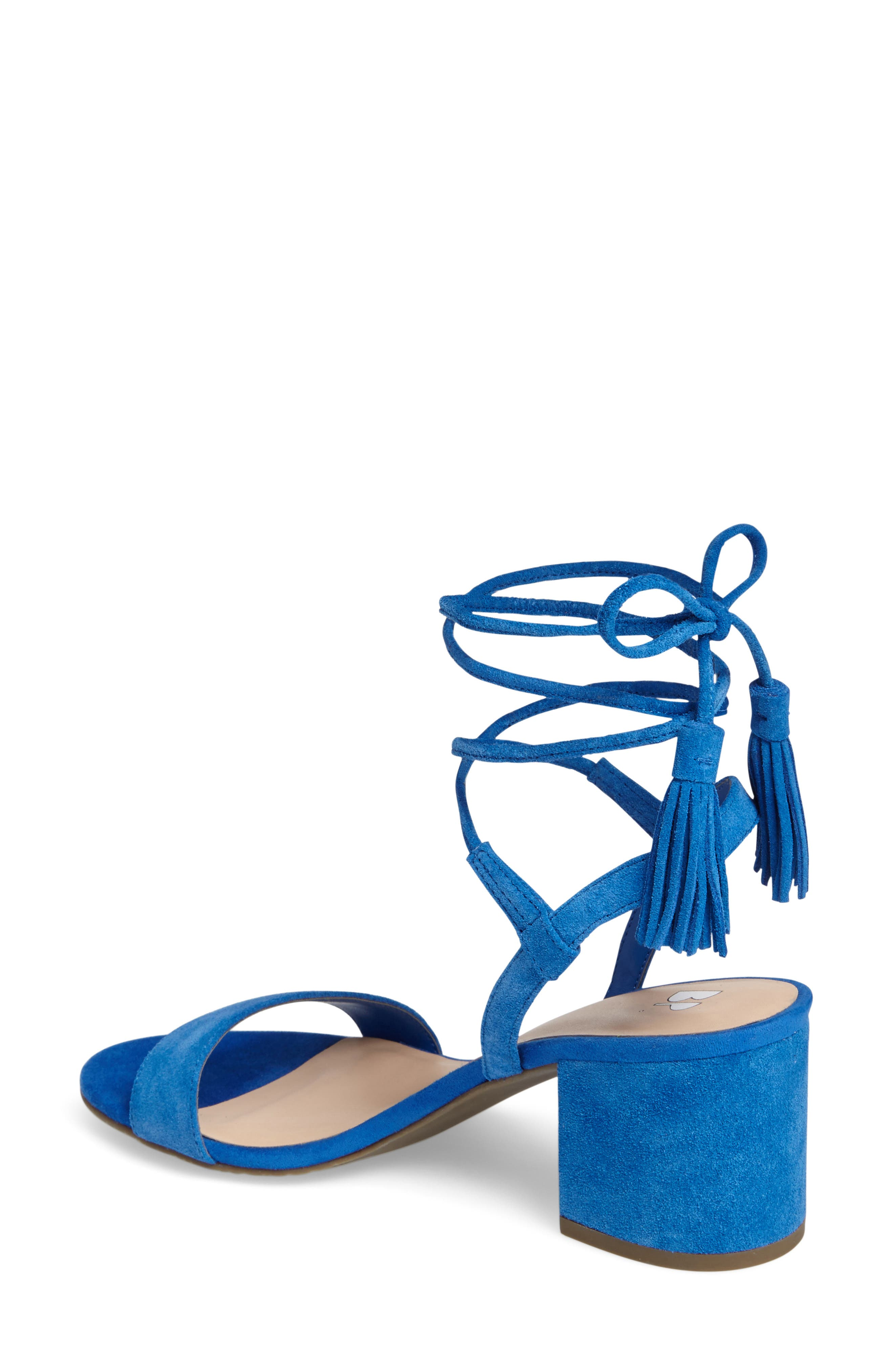 ,                             Karla Block Heel Ankle Wrap Sandal,                             Alternate thumbnail 7, color,                             402