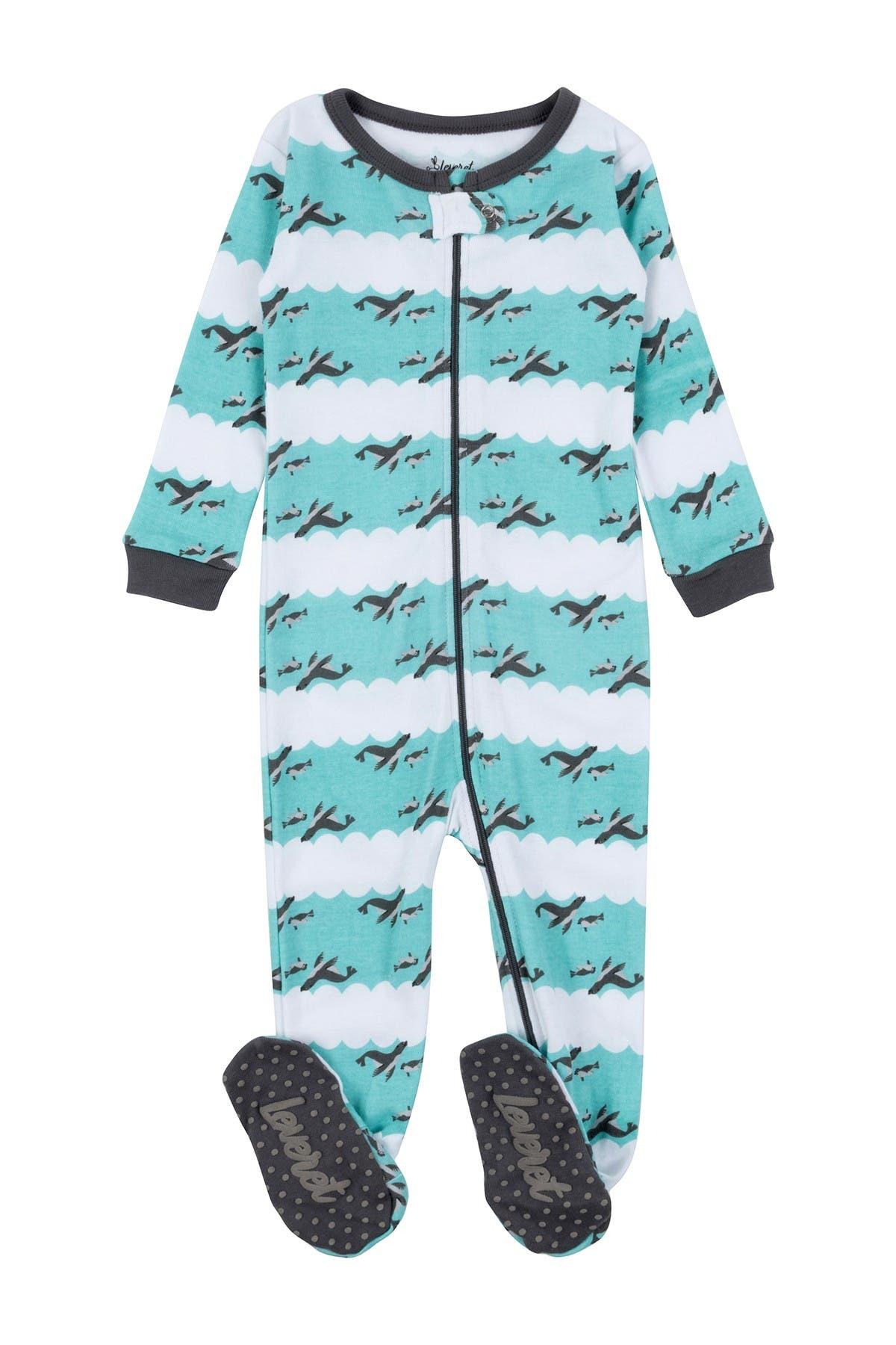 Image of Leveret Sea Lion Cotton Footie Pajama