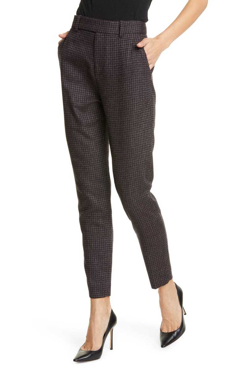 EQUIPMENT Warsaw Wool Blend Ankle Trousers, Main, color, 001
