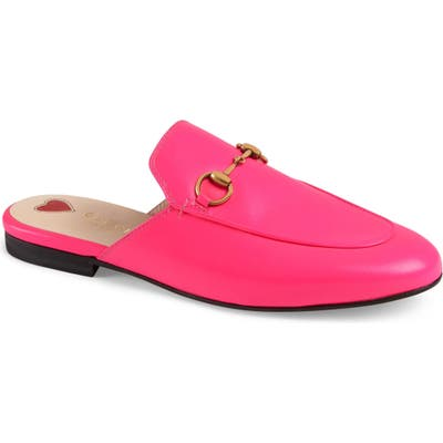 Gucci Princetown Loafer Mule, Pink