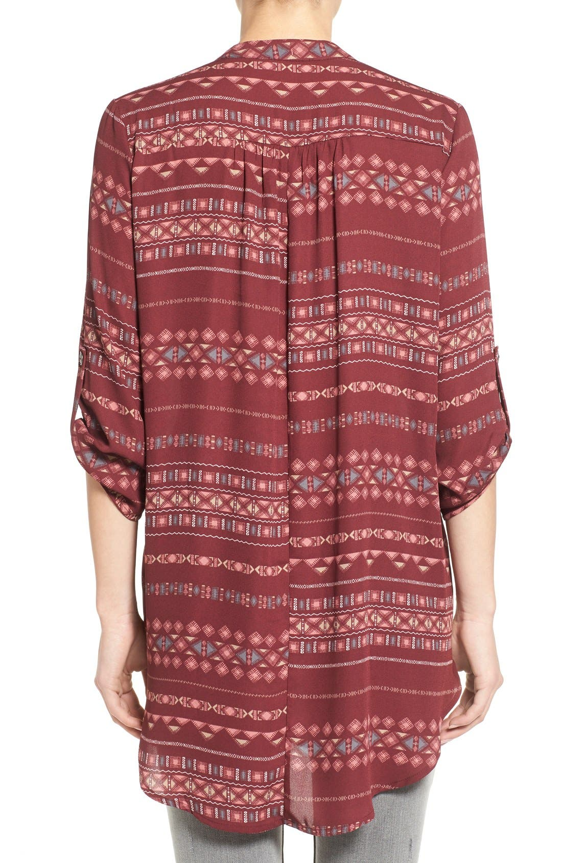 ,                             Perfect Roll Tab Sleeve Tunic,                             Alternate thumbnail 435, color,                             931
