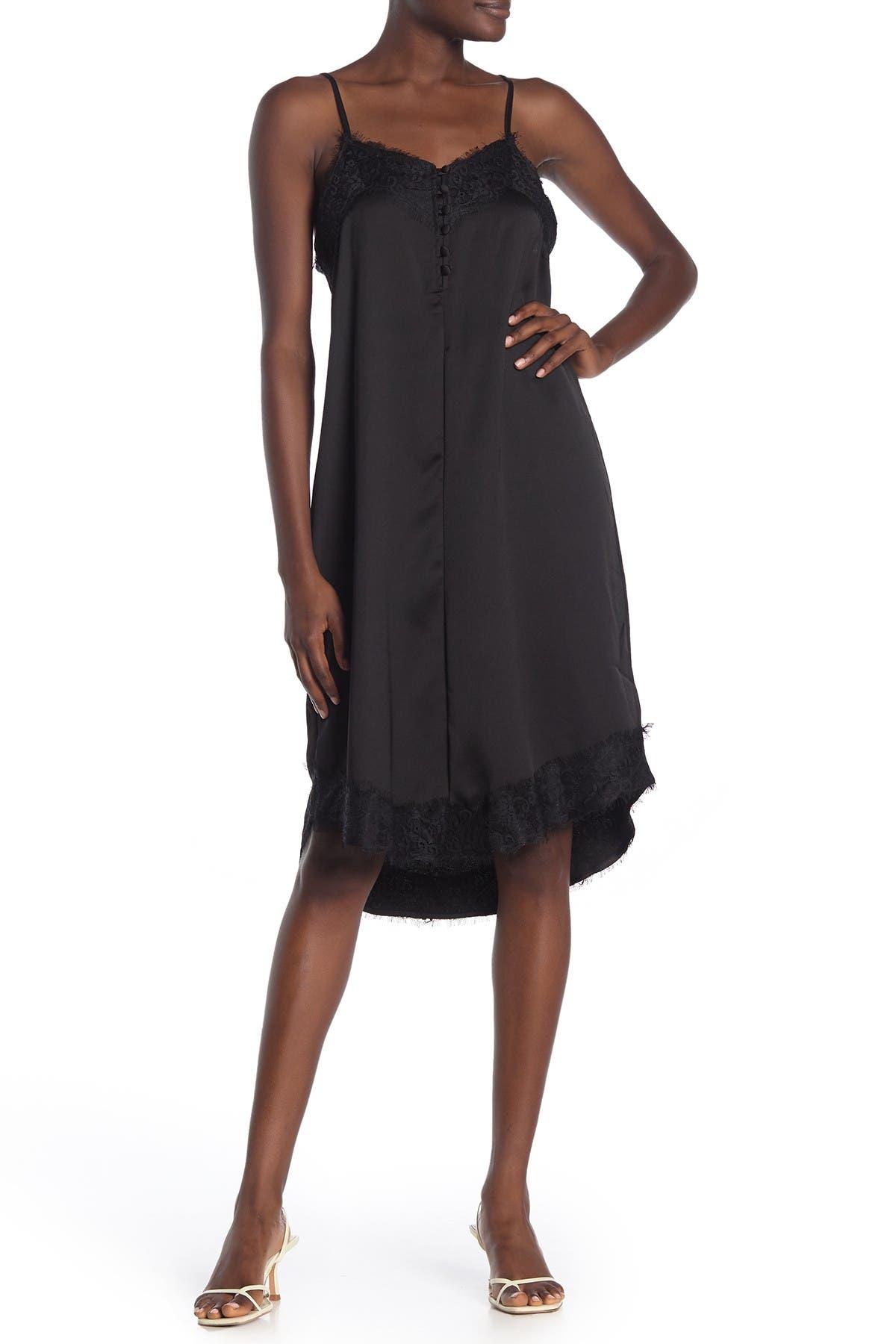 14TH PLACE Lace Trim Slip Dress