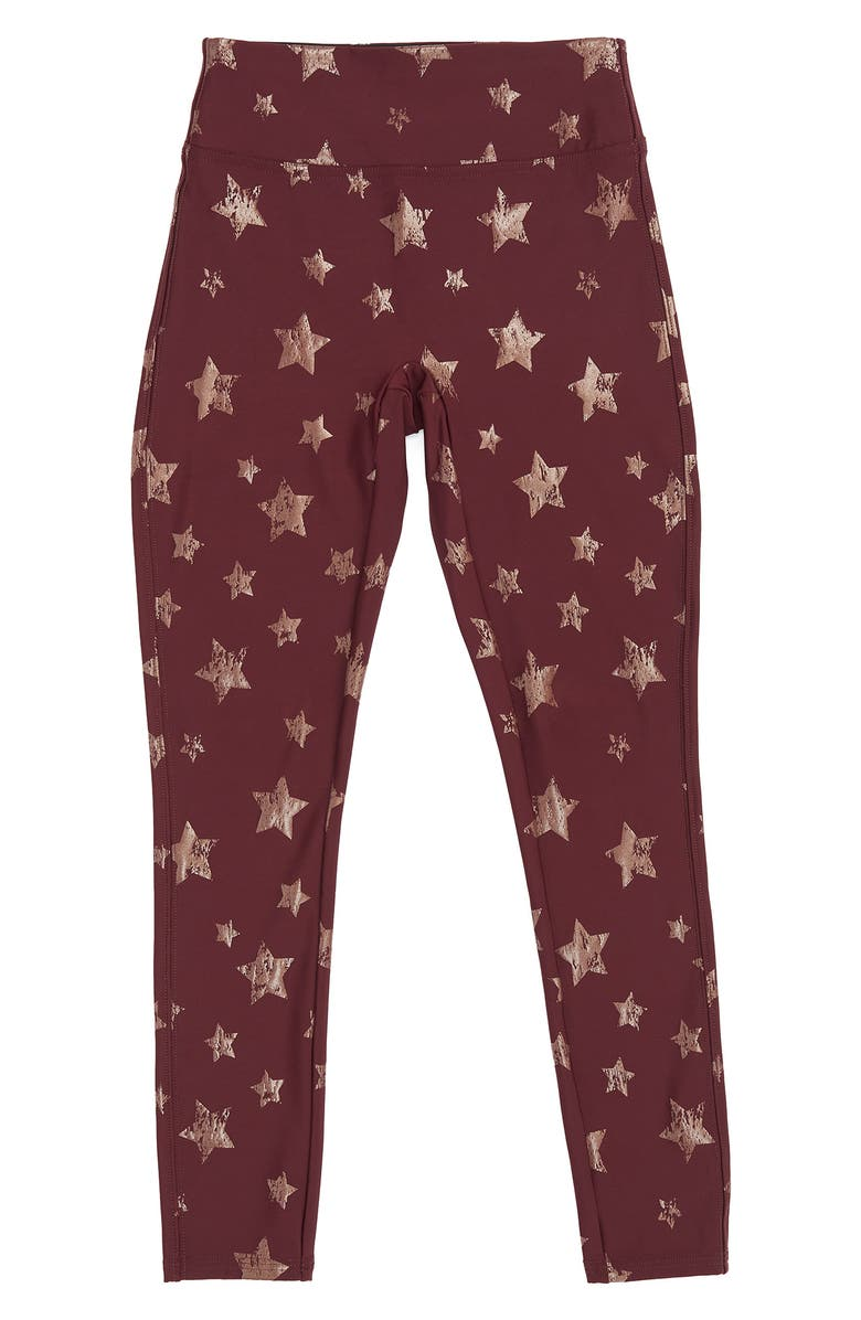 SPANX<SUP>®</SUP> Kids' Faux Leather Star Leggings, Main, color, ROSE GOLD STAR