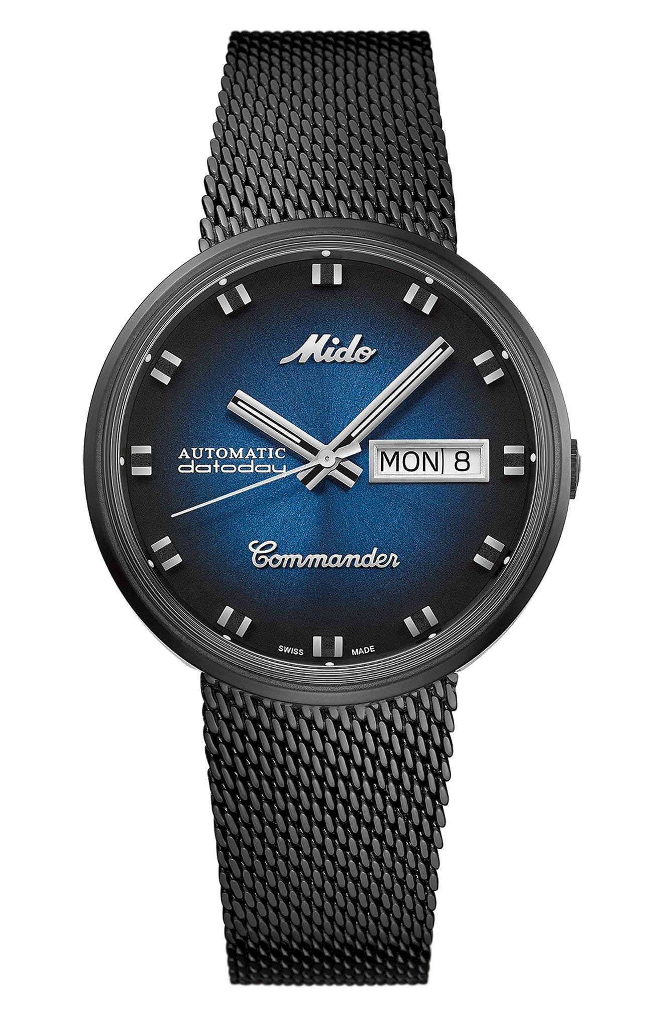 Commander Shade Automatic Mesh Strap Watch