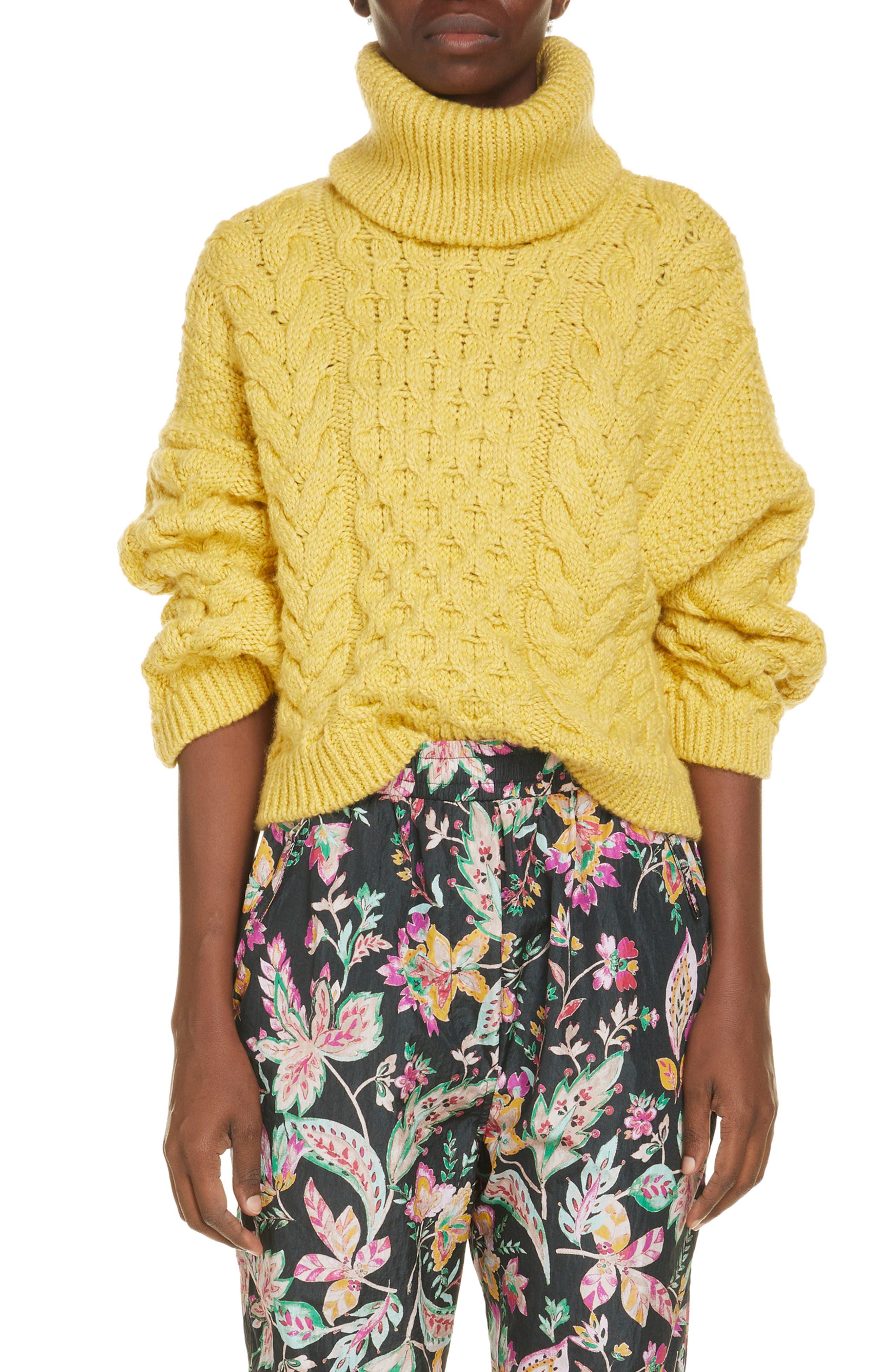 Women's Isabel Marant Etoile Ingrid Wool Blend Turtleneck Sweater