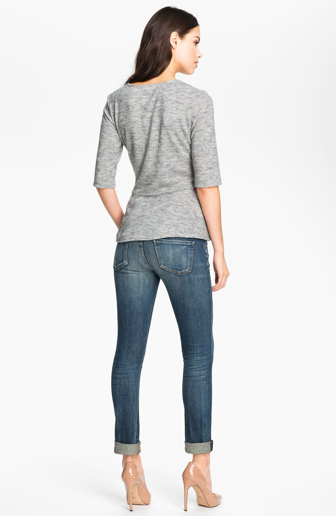 ,                             'Racer' Low Rise Skinny Jeans,                             Alternate thumbnail 6, color,                             400