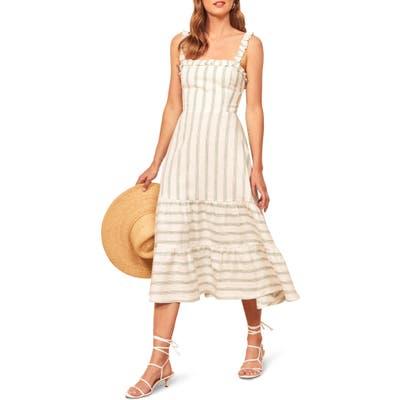 Reformation Hyla Midi Dress, White