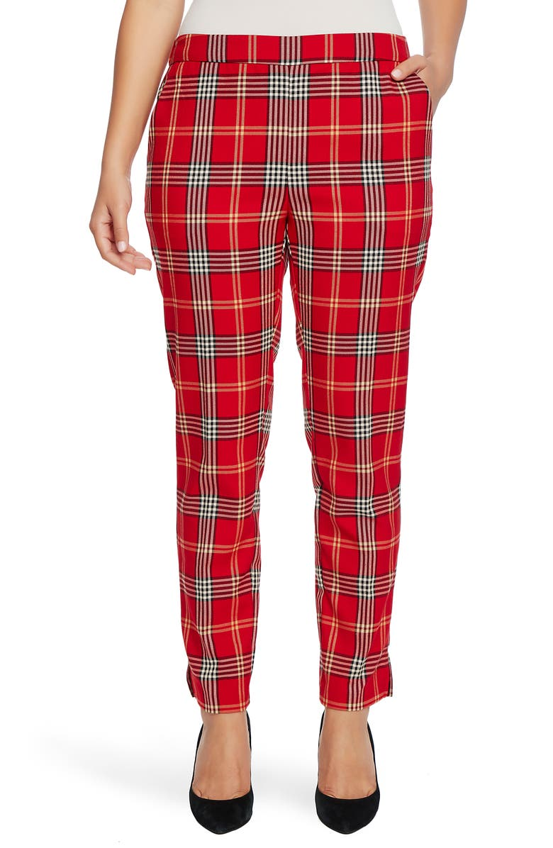 CHAUS Plaid Pull-On Pants, Main, color, 636