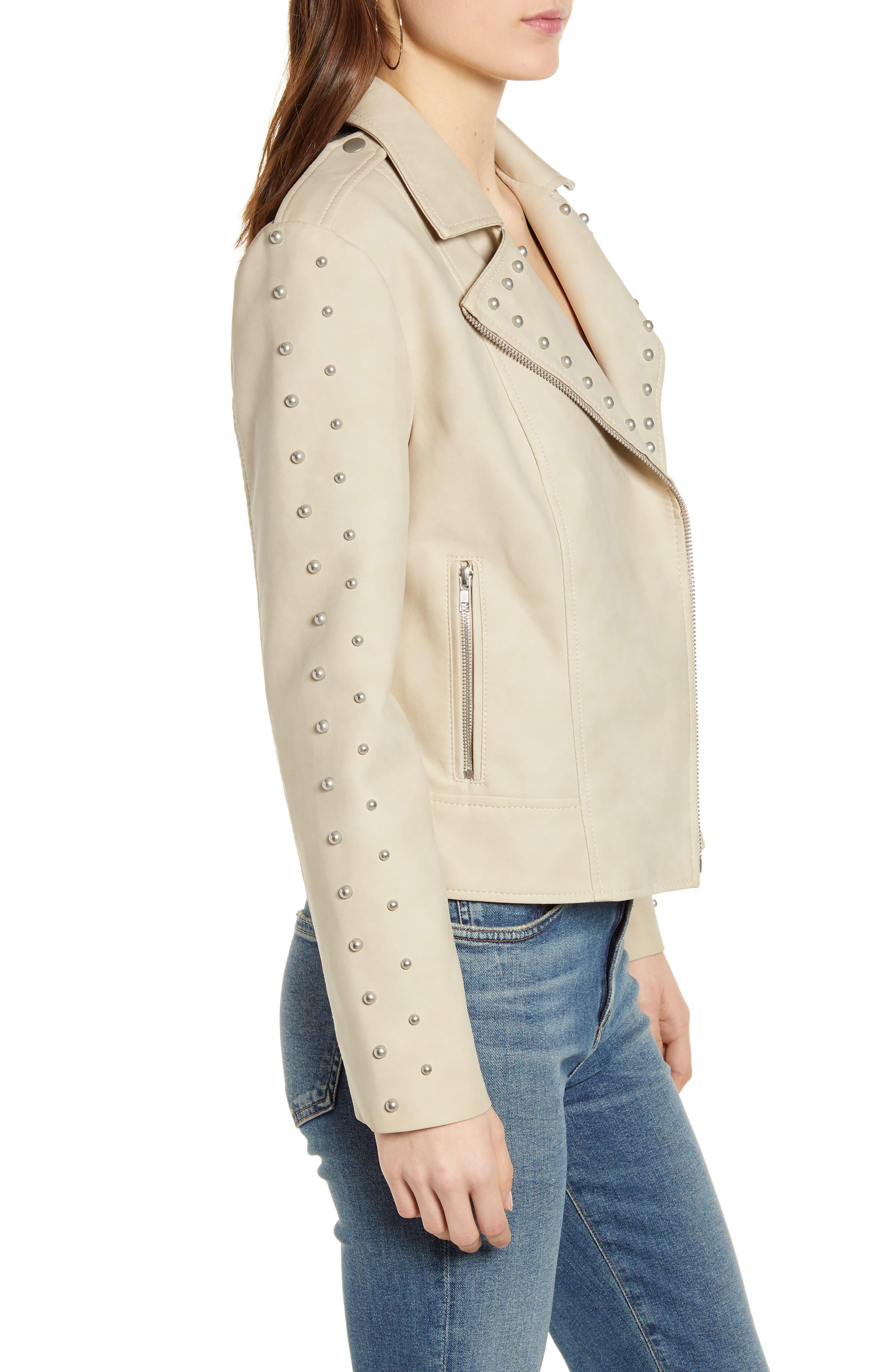 BB Dakota True Stud Faux Suede Moto Jacket