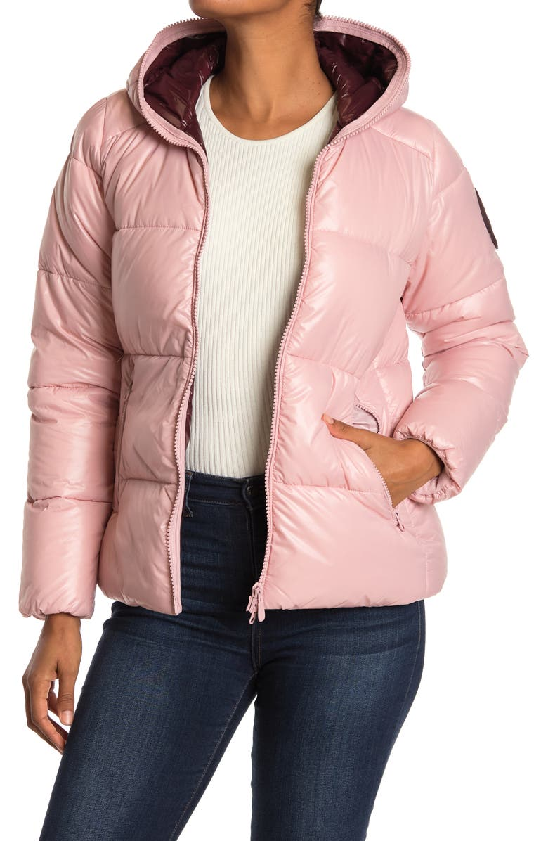 SAVE THE DUCK Quilted Puffer Jacket, Main, color, 996 BLUSH PINK