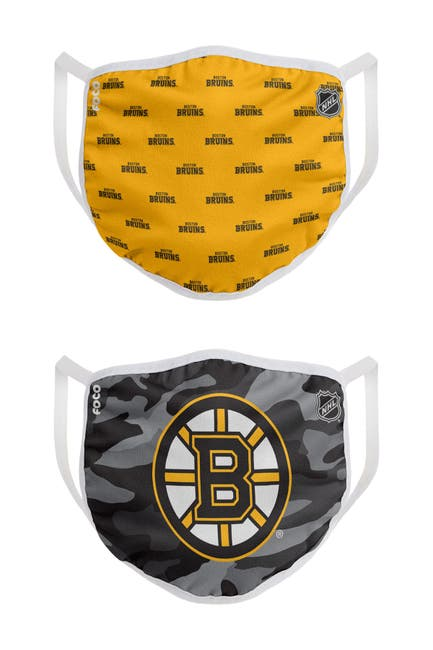 Image of FOCO NHL Boston Bruins Clutch Printed Face Cover - Pack of 2