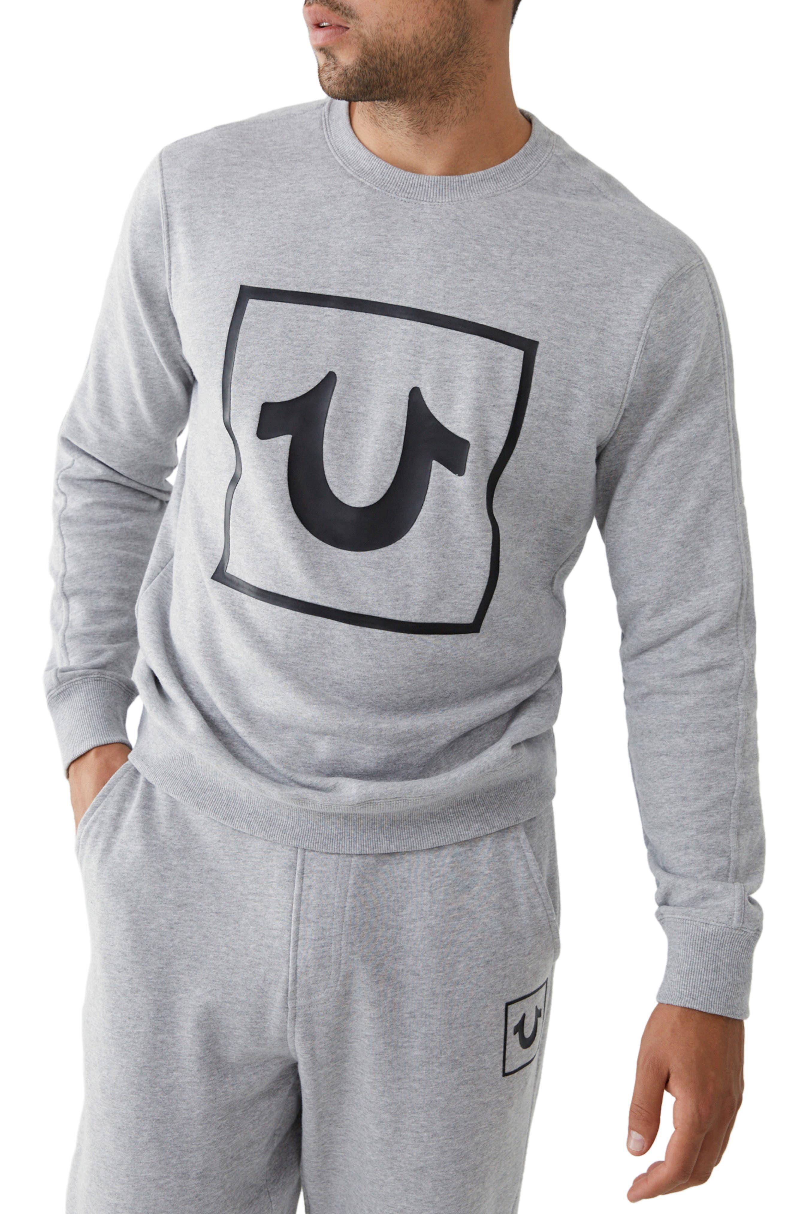 True Religion Sweatshirts LONG SLEEVE HORSESHOE CREWNECK