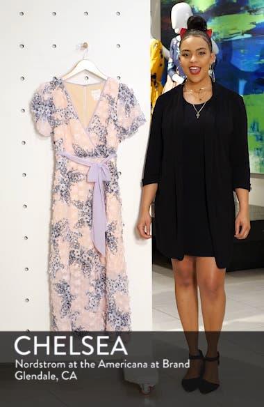 Naima 3D Floral Tea Length Dress, sales video thumbnail