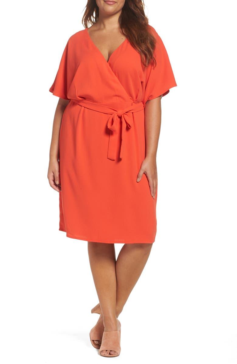 Tie Waist Kimono Dress