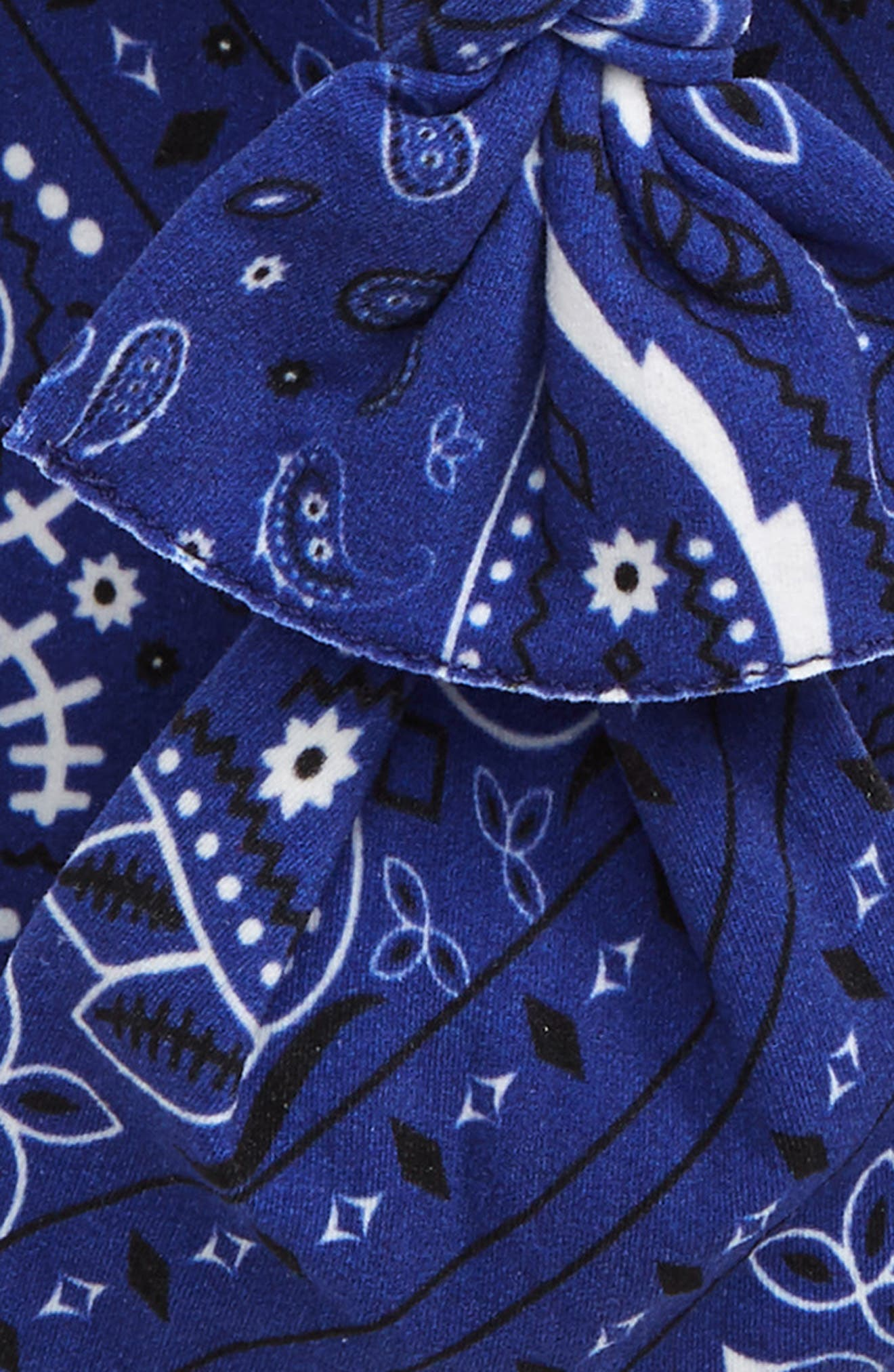 ,                             2-Pack Knotted Headbands,                             Alternate thumbnail 2, color,                             NAVY BANDANA/ WHITE