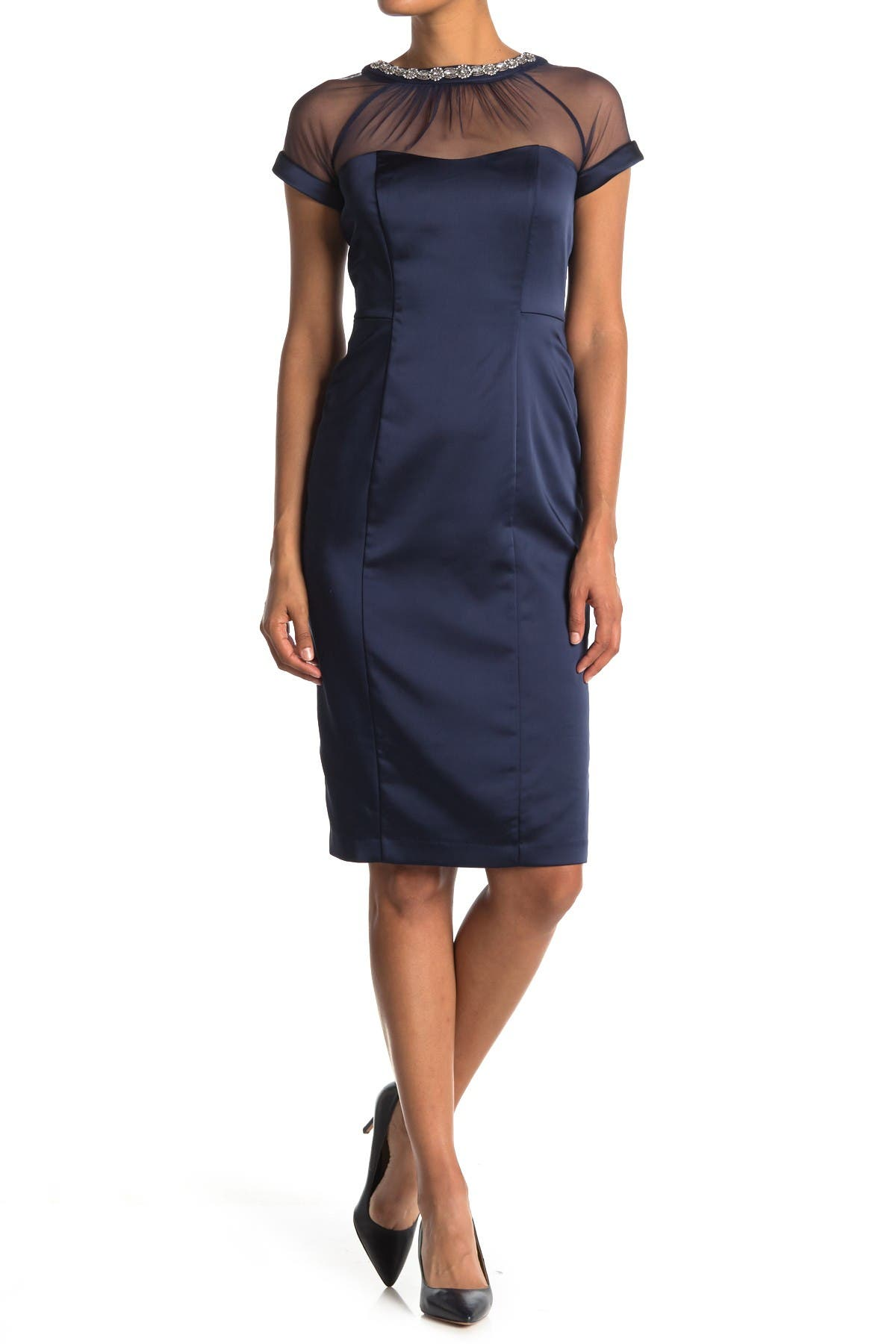 Image of Maggy London Illusion Dress