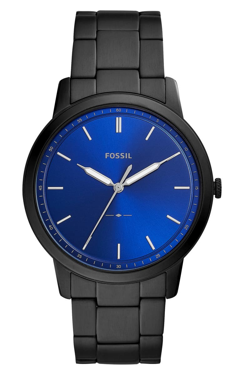 FOSSIL Minimalist Bracelet Watch, 44mm, Main, color, 002