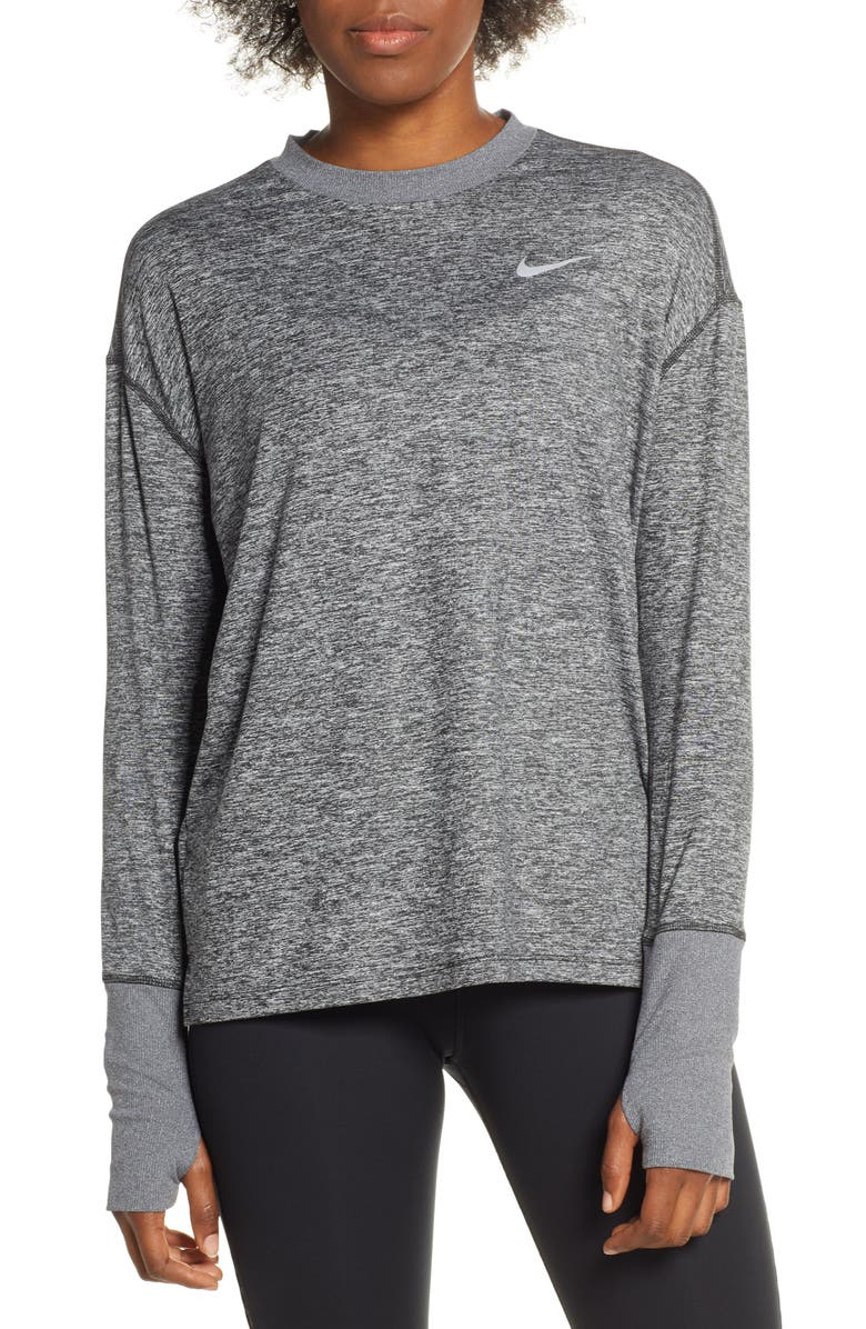 NIKE Dry Element Crewneck Top, Main, color, 011