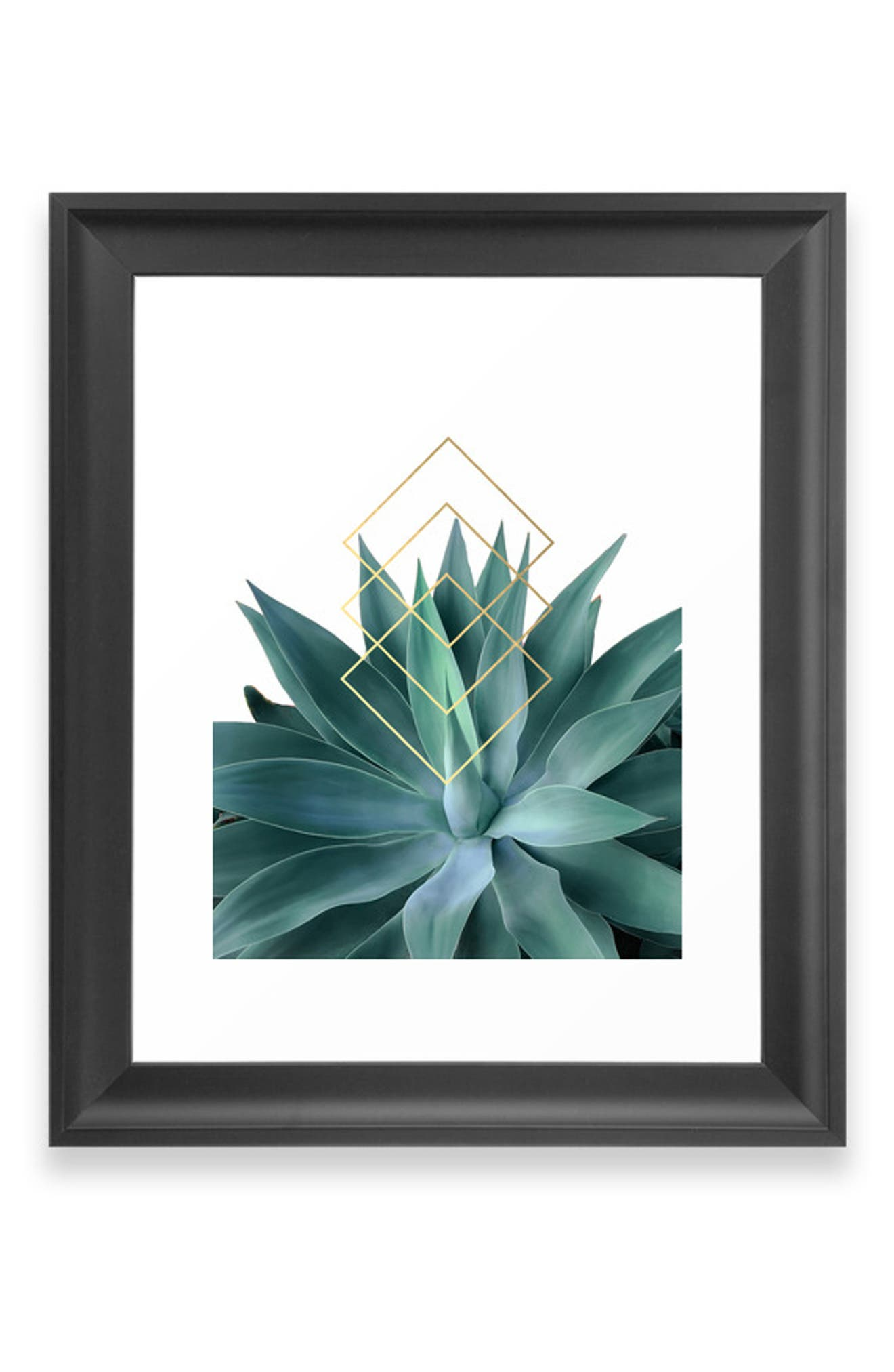 Geometric shapes and natural style merge on a contemporary matte-finish art print available on its own or in a ready-to-hang frame. Style Name: Deny Designs Agave Geometrics Art Print. Style Number: 5868606. Available in stores.