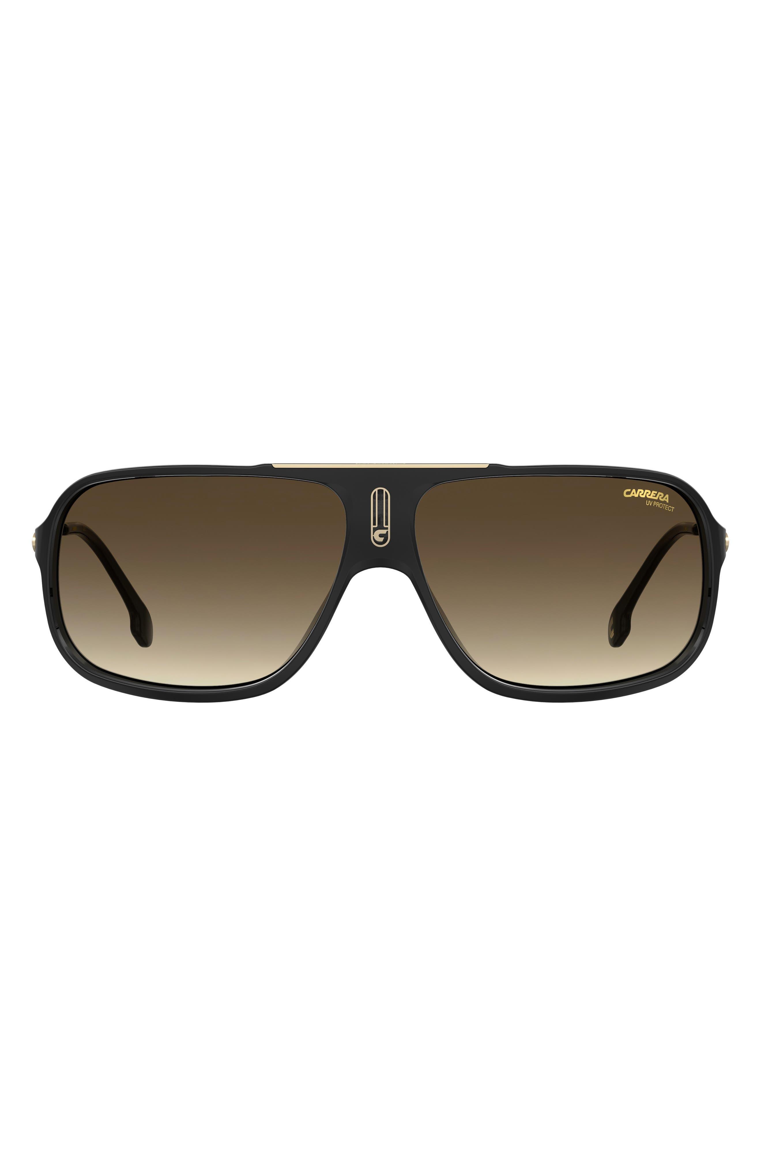 64mm Polarized Rectangle Sunglasses